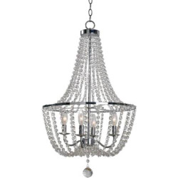 Kenroy Home Traditional 4-Light Glass Chandelier, Grey