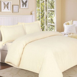Flannel Solid 3-pc. Duvet Cover Set – King, Yellow