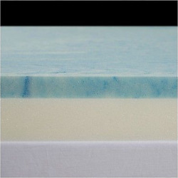 3 Gel Select Memory Foam Topper with Poly Silk Cover – Blue (Twin), White