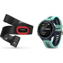 Garmin Forerunner 735XT GPS Running Watch Run Bundle, Blue