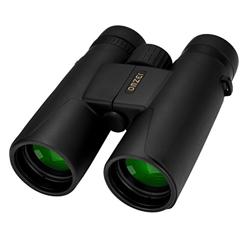 OMZER 10×42 High-powered Compact HD Binoculars With BAK4 FMC Lens, Waterproof, Fogproof, Shockproof Binocular With Weak Light Night Vision For Adults Bird Watching, Hiking, Hunting, Camping, Concerts