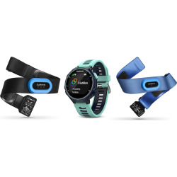 Garmin Forerunner 735XT GPS Running Watch Tri Bundle, Blue