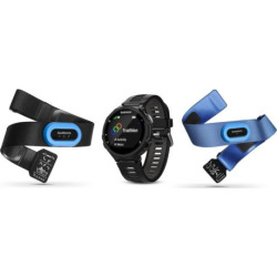 Garmin Forerunner 735XT GPS Running Watch Tri Bundle, Black