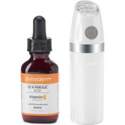 Pulsaderm My Face Acne Clearing Eraser Blue LED Light & Vitamin C Ferulic Acid Serum, Multicolor