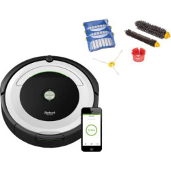 iRobot Roomba 695 WiFi Connected Robotic Vacuum & Replenishment Kit, Silver – R69520B