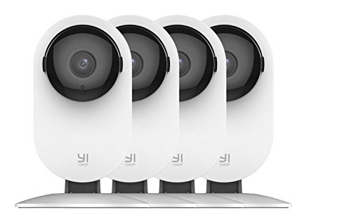 YI 4pc Home Camera, 1080p Wi-Fi IP Security Surveillance System with Night Vision, Baby Monitor on iOS, Android App – Cloud Service Available