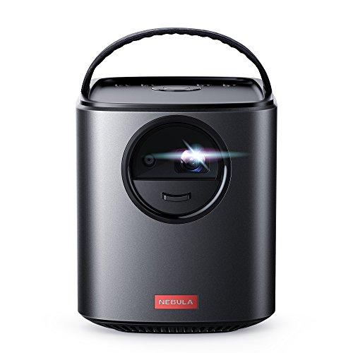 Nebula by Anker Mars II Portable Projector with 720p DLP Picture, Dual 10W Speakers, Android 7.1, 1 Second Auto-Focus, 30–150 in Screen, 4-Hour Playtime, Broad Connectivity, and Wireless Screen Cast