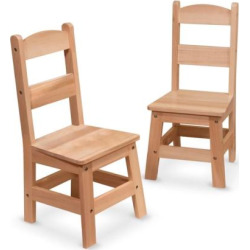 Melissa and Doug 2-pk. Wooden Chair Set, Multicolor