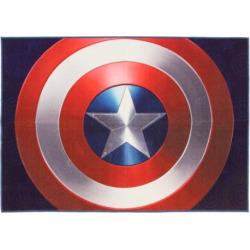 Marvel Captain America Shield Rug – 4'6″ x 6'6″, Multicolor