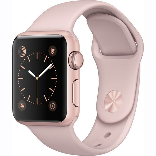 Apple Watch Series 1 Smartwatch 38mm Rose Gold Aluminum Case, Pink Sand Sport Band (Newest Model) (Certified Refurbished)