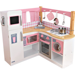KidKraft Grand Gourmet Corner Kitchen Play Set, Multicolor