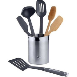 Calphalon 7 Piece Gourmet Mixed Kitchen Utensil Set, Silver