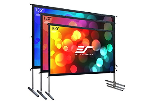 Elite Screens Yard Master 2, 120-INCH 16:9, 4K/8K Ultra HD, Active 3D, HDR Ready Portable Foldaway Movie Home Theater Projector Screen, FRONT Projection – OMS120H2