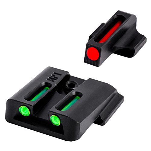 TRUGLO Fiber-Optic Front and Rear Handgun Sights for S&W M&P (including SHIELD & .22 models, excluding .22 Compact/C.O.R.E. models) SD9 and SD40 (excluding VE models)