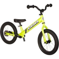 Strider 14x Sport 14-Inch Balance Bike & Easy-Ride Pedal Kit, Green