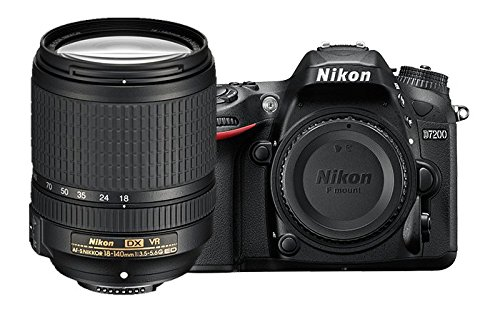 Nikon D7200 DX-format DSLR w/18-140mm VR Lens (Black)