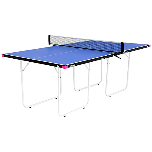 Butterfly Junior ¾ Size Table Tennis Table – 3 Year Warranty – Foldable with Wheels – Fully Assembled – Miniature Ping Pong Table