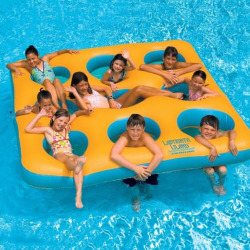 Swimline Labyrinth Island Inflatable Pool Float, Multicolor