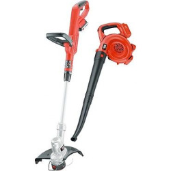 Black+decker 20V Max* Lithium 12 String Trimmer/Sweeper Combo Kit LCC300 – Orange