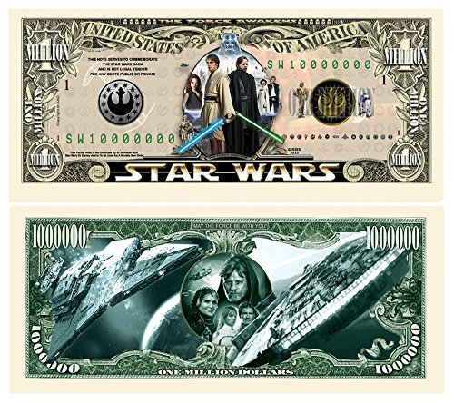 limited edition star wars collectible million dollar bill in currency holder - Allshopathome-Best Price Comparison Website,Compare Prices & Save