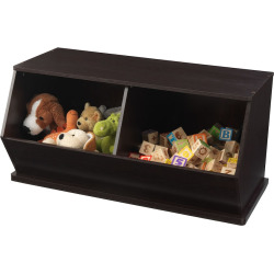 KidKraft Double Storage Unit – Espresso, Brown