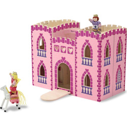 Melissa and Doug Fold and Go Princess Castle, Multicolor