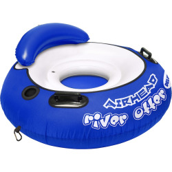 Airhead River Otter Deluxe Inflatable Blue River Tube, Multicolor
