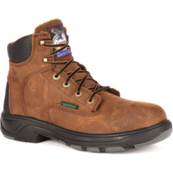 Georgia Boot Fixpoint Men's 6-in. Waterproof Work Boots, Size: medium (8), Brown