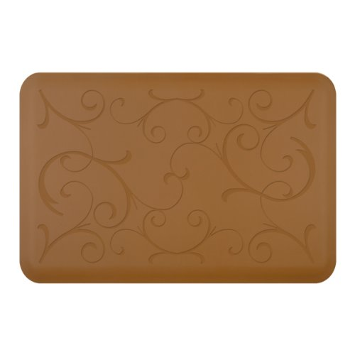 WellnessMats Bella Motif Anti-Fatigue Mat, Tan, 36 Inch by 24 Inch