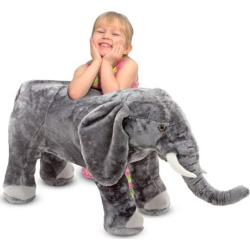 Melissa and Doug Elephant Plush Toy, Multicolor