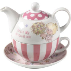 "Precious Moments ""You're My Inspiration"" Teapot & Cup 4-piece Set, Multicolor"
