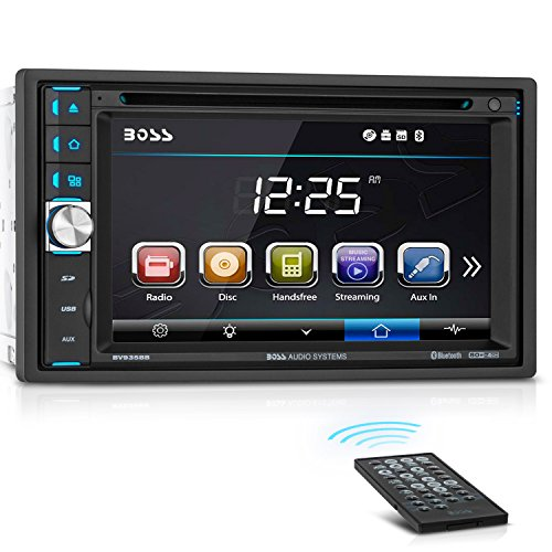 BOSS Audio BV9358B Double Din, Touchscreen, Bluetooth, DVD/CD/MP3/USB/SD AM/FM Car Stereo, 6.2 Inch Digital LCD Monitor, Wireless Remote