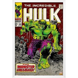 Art.com Marvel Hulk Framed Poster, Green