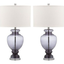 Clear Glass Table Lamp – Gray (Set of 2) – Safavieh, Clear/White