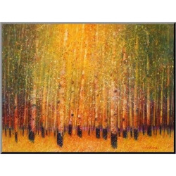 Art.com Decorative Wall Panel Aspen Glow – Gold