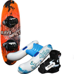 Rave Sports Youth Wakeboard Starter Set, Multicolor
