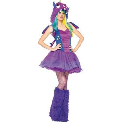 Women's Darling Dragon Costume, Purple