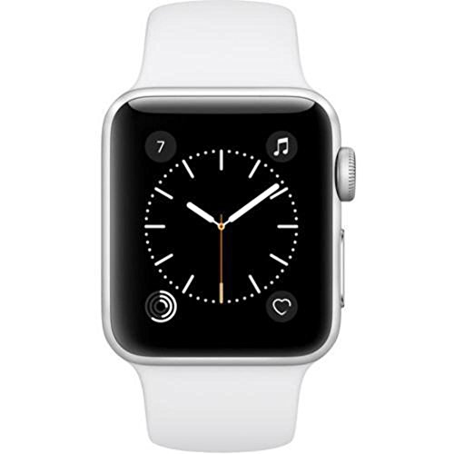 Apple Watch Series 2 38mm Silver Aluminum Case with White Sport Band – MNNW2LL/A