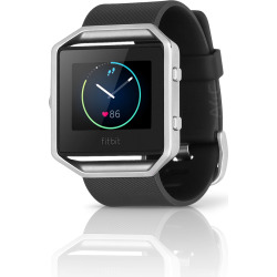 Fitbit Blaze Fitness Smartwatch w/ Heart Rate Monitor (L) – Black / Silver (Scratch and Dent)