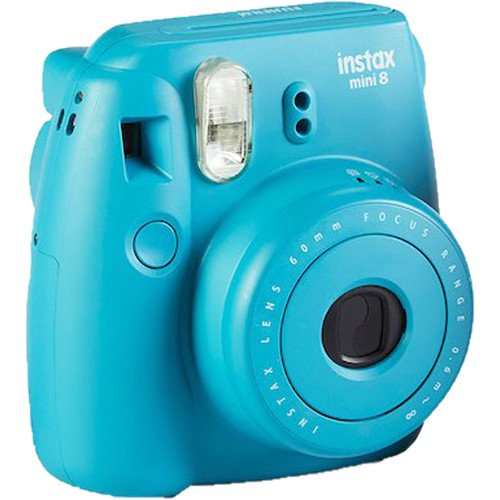 Fujifilm INSTAX Mini 8 Instant Camera (Tile Blue) Special Edition