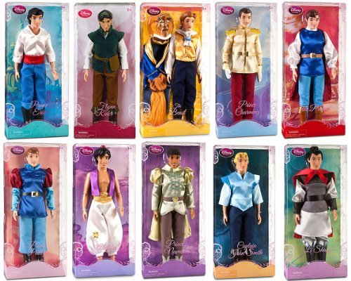 disney store 10 disney princes 12 classic doll toy collection gift set - Allshopathome-Best Price Comparison Website,Compare Prices & Save