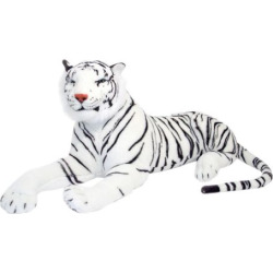 Melissa and Doug White Tiger Plush Toy, Multicolor