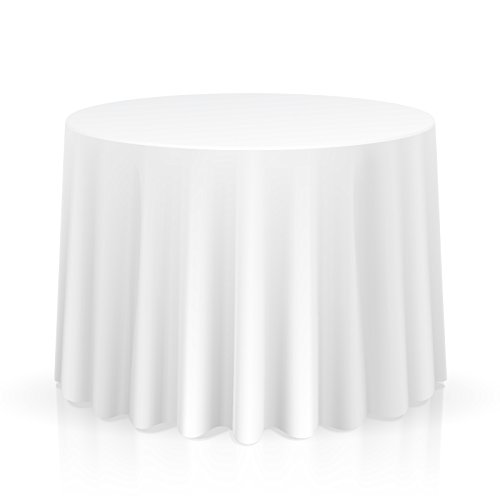Lann's Linens – 10 Premium 120″ Round Tablecloths for Wedding/Banquet/Restaurant – Polyester Fabric Table Cloths – White