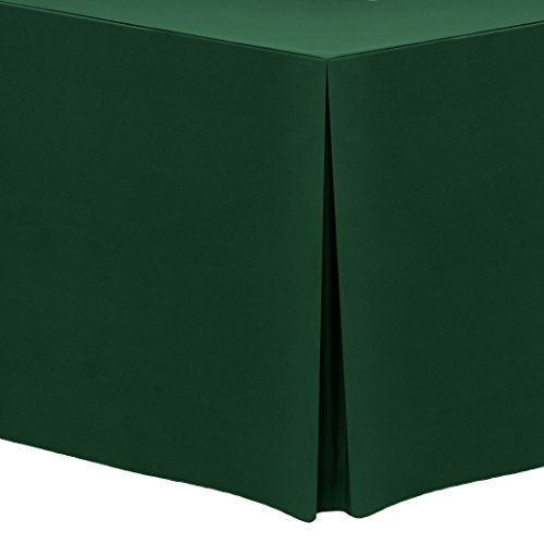Ultimate Textile (3 Pack) 6 ft. Fitted Polyester Tablecloth – for 30 x 72-Inch Banquet and Folding Rectangular Tables, Hunter Green