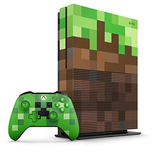 Xbox One S 1TB Limited Edition Console – Minecraft Bundle [Discontinued]