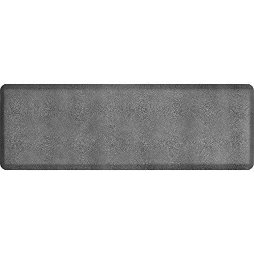 WellnessMats Anti-Fatigue Granite Motif Kitchen Mat, 72 Inch by 24 Inch, Steel