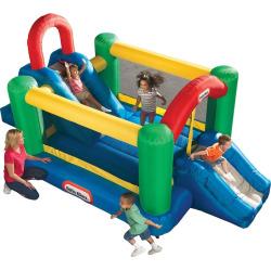 Little Tikes Jump & Double Slide Bouncer, Multicolor