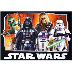 Star Wars Classic Rug – 4'6″ x 6'6″, Multicolor