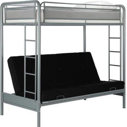 Rockstar Kids Bunk Bed – Twin/Futon – Silver – Dorel Home Products