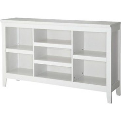 Carson Horizontal Bookcase with Adjustable Shelves – White – Threshold